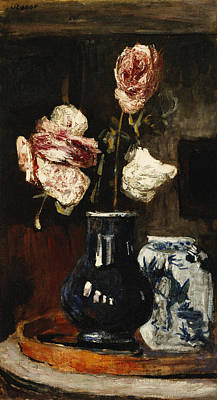Conor Painting - Floral Still Life by Roderic O Conor