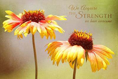 Floral Sunshine With Message Art Print