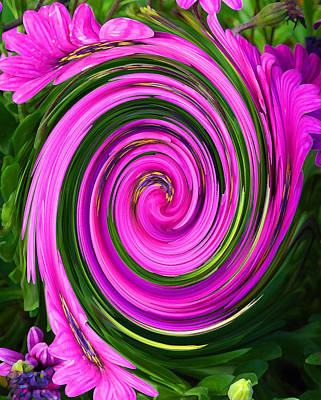 Photograph - Floral Swirl 2 by Margaret Saheed