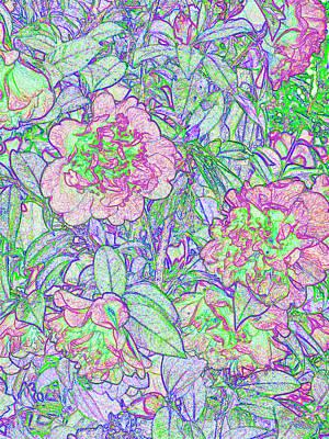 Digital Art - Floral Tapestry by Wendy Le Ber