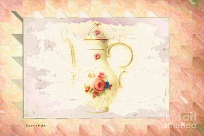 Digital Art - Floral Teapot by Liane Wright