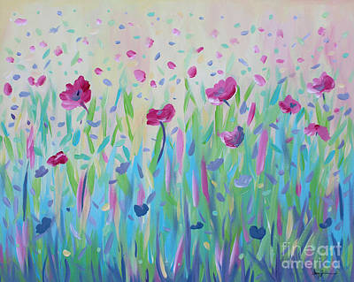 Painting - Floral Whispers by Stacey Zimmerman