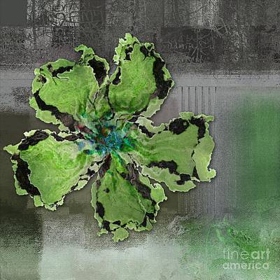 Floralart - 0404 Green Art Print by Variance Collections
