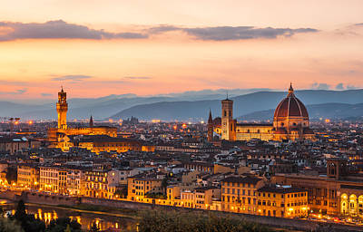 Photograph - Florence At Dusk by Gurgen Bakhshetsyan