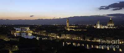 Photograph - Florence At Night by Alex Dudley