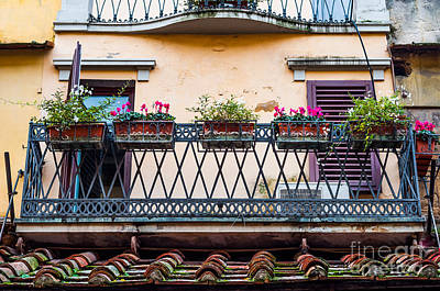 Photograph - Florence Balcony by Luis Alvarenga