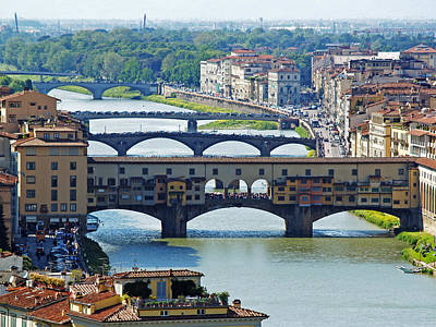 Photograph - Florence Bridges Italy by Haleh Mahbod