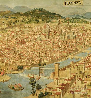 Florence  Carta Della Catena Art Print