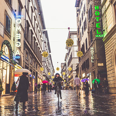 Rain Wall Art - Photograph - Florence by Cory Dewald