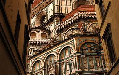 Florence Duomo Detail 1 Print by Bob Christopher