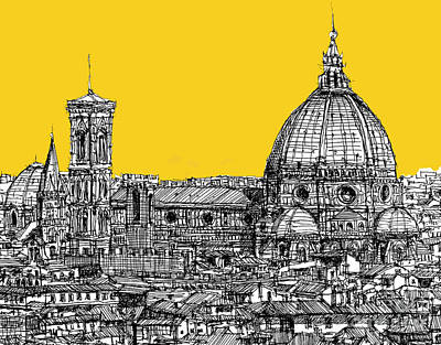 Florence Duomo  Art Print by Adendorff Design