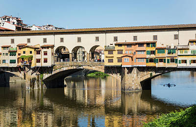 Rowers Photograph - Florence, Florence Province, Tuscany by Panoramic Images