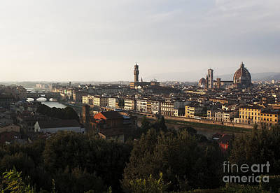 Florence Form The Piazza Michalengelo Art Print by Belinda Greb