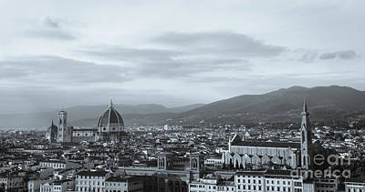 Photograph - Florence In Monochrome by David Warrington