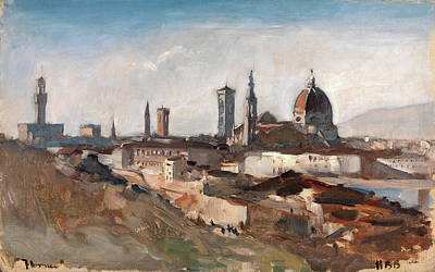 Toscana Painting - Florence Inscribed, Lower Left Florence Signed by Litz Collection
