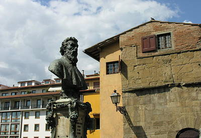 Photograph - Florence Italy Benvenuto Cellini Sculpture by Jacqueline M Lewis