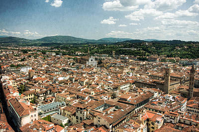 Photograph - Florence Italy Cityscape by Natasha Bishop