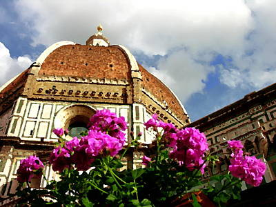 Photograph - Florence Italy Duomo View by Jacqueline M Lewis