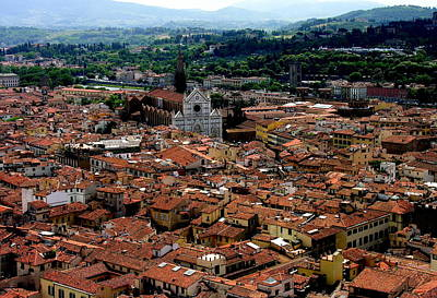Photograph - Florence Italy Panorama With Santa Maria Novella by Jacqueline M Lewis
