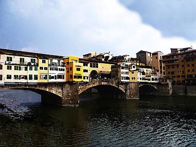 Florence Italy Ponte Vecchio Print by Irina Sztukowski