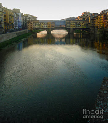Photograph - Florence Italy - Ponte Vecchio - Sun Rise by Gregory Dyer