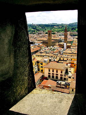 Photograph - Florence Italy View From Duomo by Jacqueline M Lewis