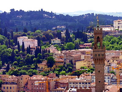 Photograph - Florence Italy View To Tuscan Hills by Jacqueline M Lewis