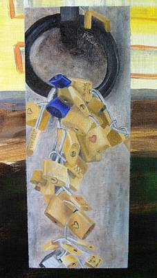 Painting - Florence Locks by Karin Thue