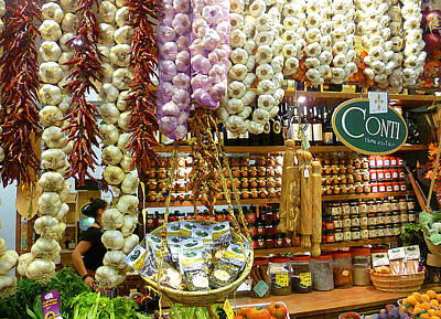 Thanksgiving Art Photograph - Florence Market by Irina Sztukowski
