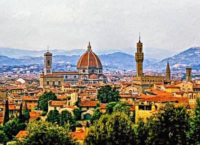 Impasto Oil Digital Art - Florence - Oil by Steve Harrington