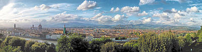 Florence Panorama Art Print by C H Apperson