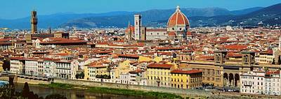 Photograph - Florence Panoramic  by Caroline Stella