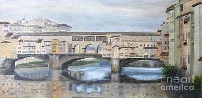 Painting - Florence Reflections by Tracey Peer