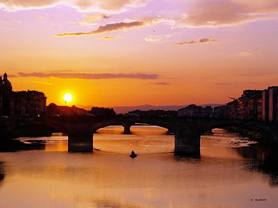 Photograph - Florence Sunset  by Haleh Mahbod
