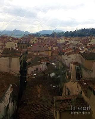 Florence Through An Old Window Art Print by Micheal Jones