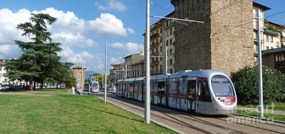 Photograph - Florence Trams  by Phil Banks