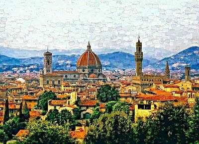 Florence Watercolor Art Print by Steve Harrington