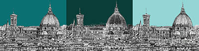 Florence's Duomo Triptych Art Print by Adendorff Design