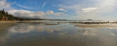 Ebbtide Photograph - Florencia Bay Reflections by Allan Van Gasbeck