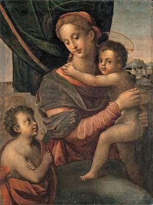 Florentine Artist, Madonna And Child Art Print by Everett