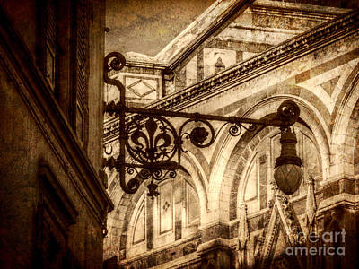 Digital Art - Florentine Fixture Sepia by Valerie Reeves