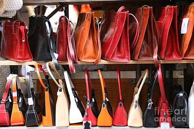 Leather Purses Photograph - Florentine Purses by Holly C. Freeman