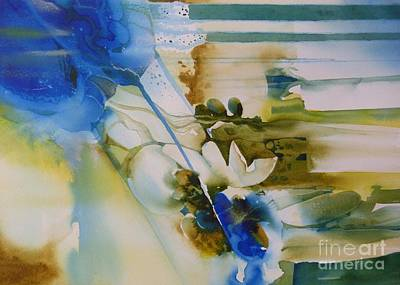 Painting - Flores Azules by Donna Acheson-Juillet