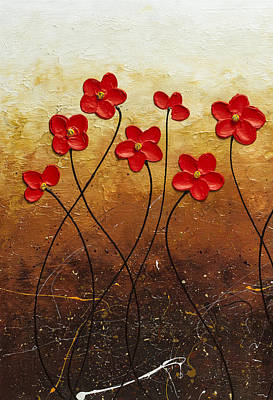 Painting - Flores De Mi Jardin 1 by Carmen Guedez