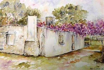 Flores Lilas Y Celestes Art Print