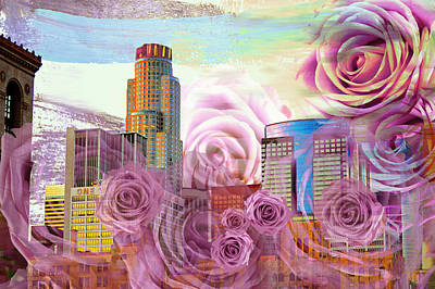 Las Flores De Los Angeles  Art Print by John Fish