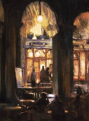 Florians Cafe Venice Art Print by Jackie Simmonds