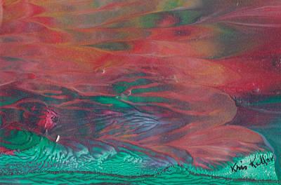 Turbulent Skies Painting - Florid Skies by Kristine Kellor