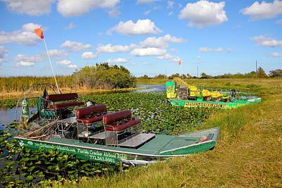 Photograph - Florida Airboats by Denise Mazzocco