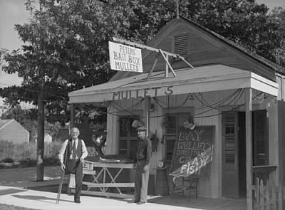 Crawfish Photograph - Florida Bait Shop, 1938 by Granger
